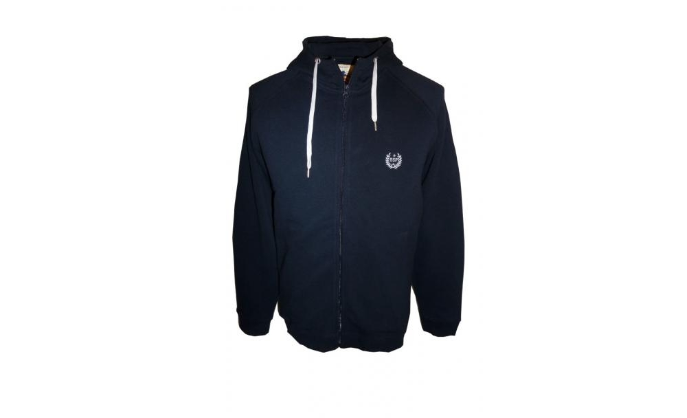 big mens zip up waffle hoody