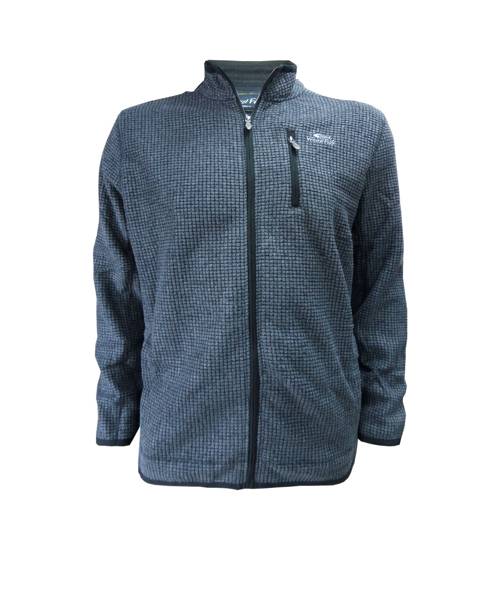 big mens fleece jacket charcoal