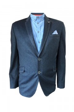 blazer with contrast coloured stitching