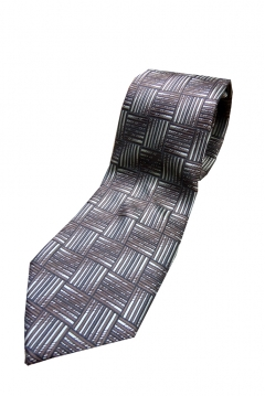 extra long patterned tie