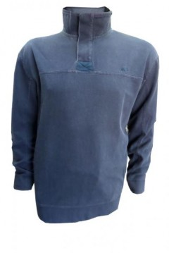 big mens sweatshirt zip collar