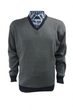v neck stripe pullover