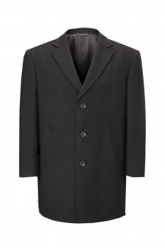 Big mens wool overcoat black