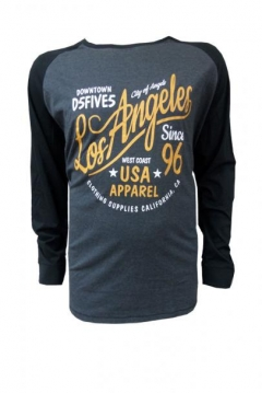 neill los angeles printed long sleeve t shirt