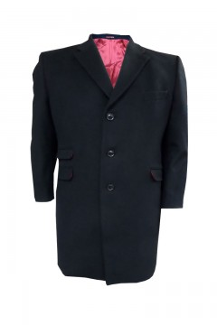brent long wool crombie overcoat