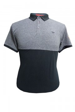 stefhen pique knit polo with cut and sew