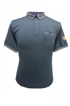 walker polo shirt with ribbed collar and cuffs