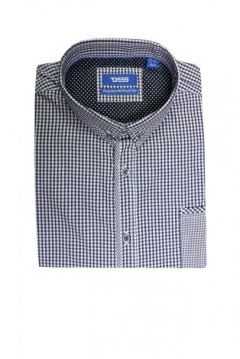 hank gingham check shirt with patch pocket