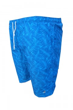 hacker swim shorts with leaf print