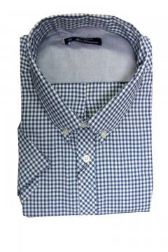 short sleeved core gingham shirt