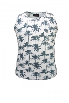 all over palm print print vest