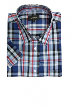 checked short sleeved shirt