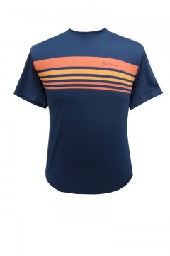 sport tipped chest print t-shirt