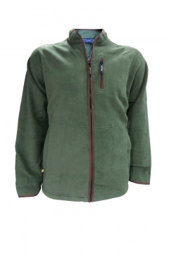 big mens fleece jacket khaki green