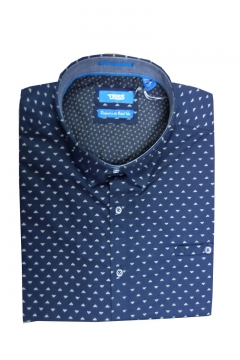 barrington short sleeve geo print shirt