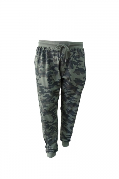 sutton all over camo print joggers