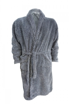 long pile shawl collar dressing gown