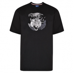 metaphor tiger print t-shirt black
