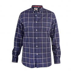 d555 townsville check button down collar shirt navy