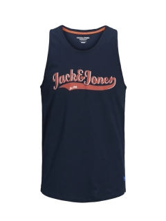 jack & jones raydon print vest navy