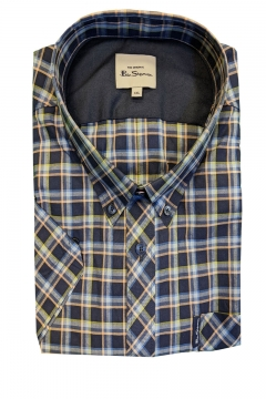 ben sherman signature check short sleeve shirt