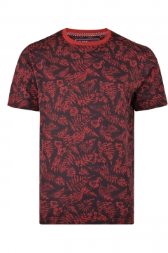 kam leaf printed crew neck t-shirt