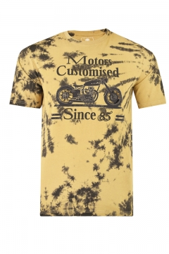 kam cool dyed customised motors printed t- shirt