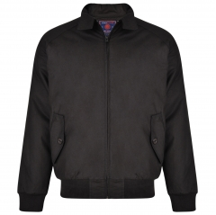 kam quilted harrington jacket black