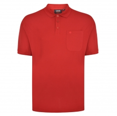espionage plain polo shirt with pocket red