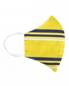 double two mustard stripe face mask
