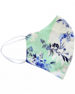 double two mint floral face mask