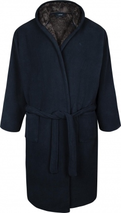 espionage bonded fleece hooded dressing gown